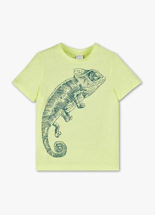 Яркая футболка c&a хамелеон размер 134