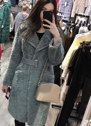Шуба - пальто из выделки овчины