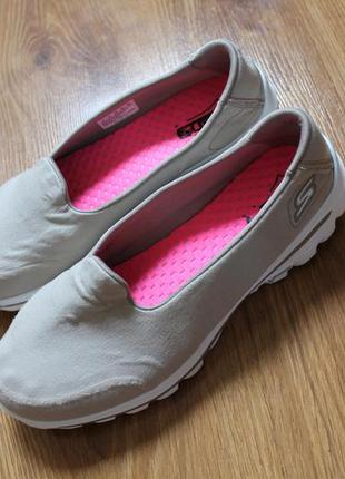 Легкие летние кроссовки тапочки skechers go walk 2  размер 39 ...