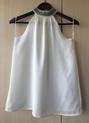 Белая блуза, топ с чокером pimkie / xs