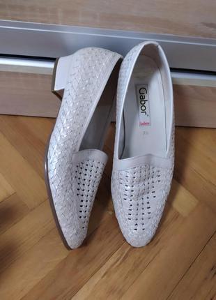 Кожаные туфли мокасины от gabor,p. 7,5 (40-41)
