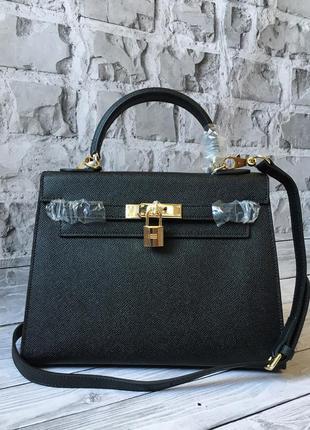 Женская кожаная сумка hermes с замком