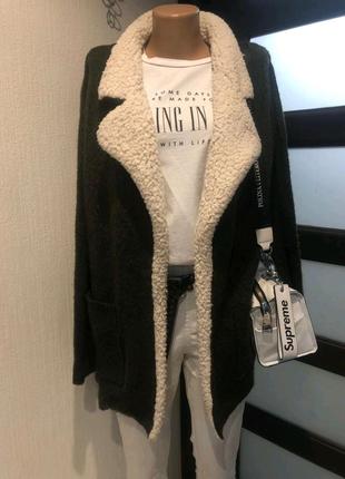 Теплый стильный кардиган кофта пиджак жакет блейзер пальто