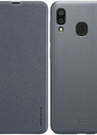 Кожаный чехол (книжка) Nillkin для Samsung Galaxy A20 / A30
