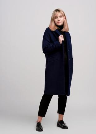 Элегантное женское пальто season темно-синего цвета