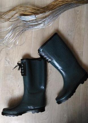 Резиновые женские  сапоги размер 38