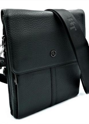 Мужская кожаная сумка h.t.leather чёрного цвета 5387-3 барсетка