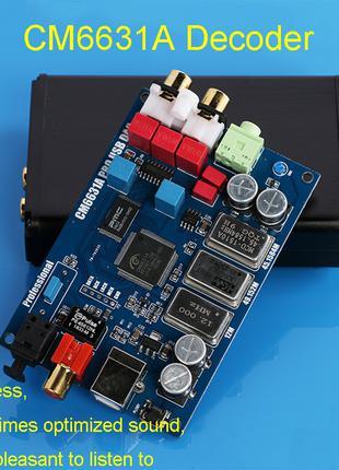 CM6631A ES9023 ЦАП DAC USB внешняя звуковая карта 32bit 192kHz