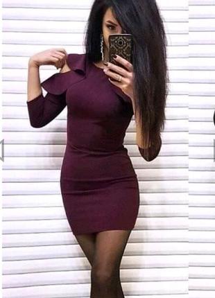 Короткое платье с воланом Глэдис