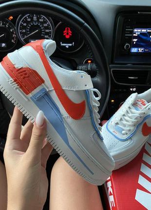 Кроссовки nike air force 1 low white red blue