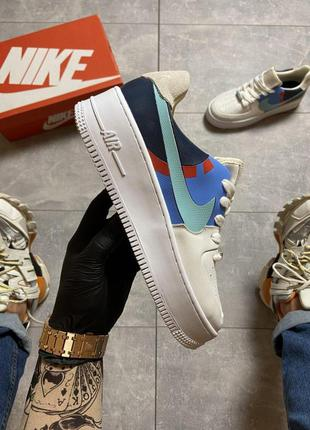 Кроссовки nike air force 1 low white blue