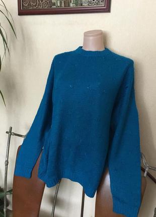 Махеровый свитер кофта ручной работы шерсть