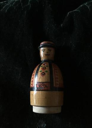 Деревянная фигурка статуэтка старая советская ссср «гуцул» дерево