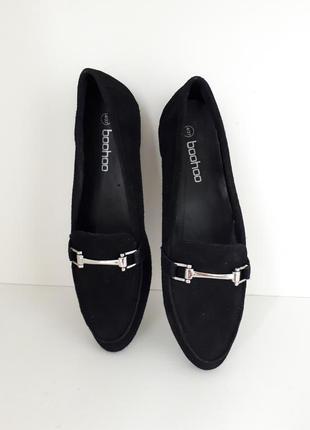 Замшевые туфли кожаные boohoo