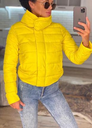 Куртка осенняя женская короткая
