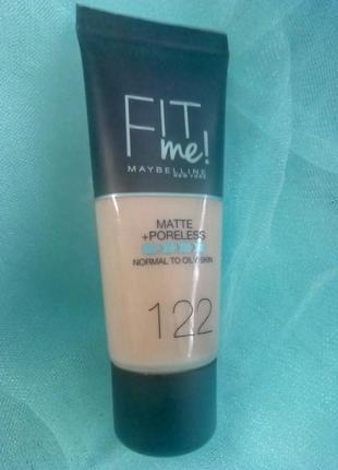 Maybelline fit me matte poreless foundation тональный крем,раз...