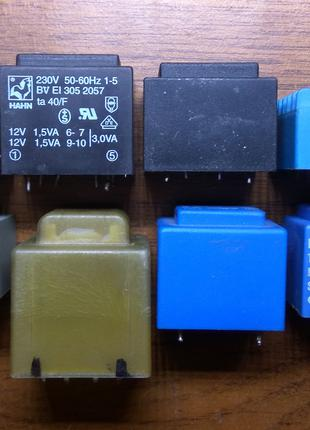 Силовой залитый трансформатор (герметичный)12 в, 9в, 19в.70