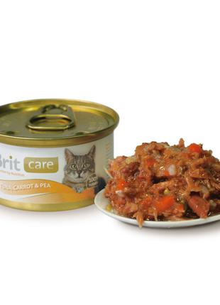 Влажный корм для кошек Brit Care Cat Tuna, Carrot & Pea 80 г