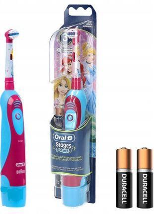 Детская зубная щетка Принцесса на батарейках Braun Oral-B Stages