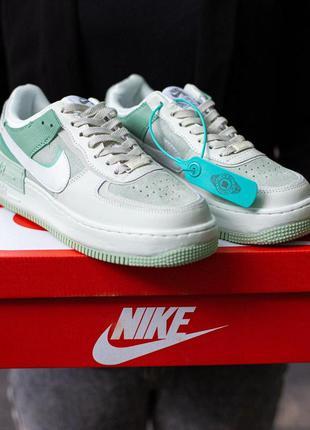 Nike air force shadow  green\mint (высокие )🔺женские кроссовки...