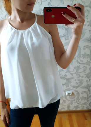 Шифонова блуза блузка майка