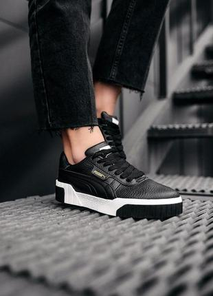 Кроcсовки puma cali black white