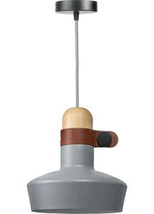 Серый потолочный светильник Leder в 3-х цветах