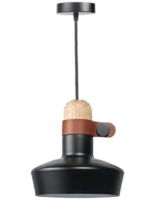 Черный Полоточный светильник Leder в 3-х цветах