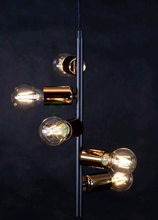 Подвесной черный светильник на 5 ламп Adaly
