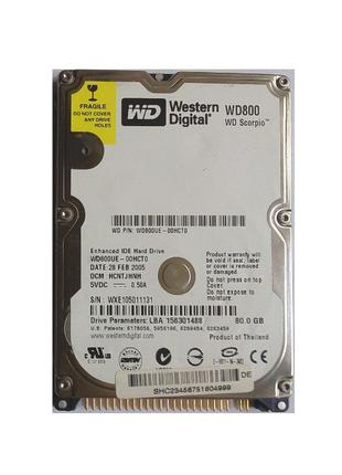 "Жорсткий диск HDD 2.5"" IDE WD 80 Gb"