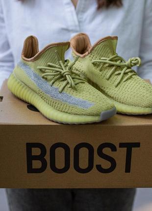 Adidas yeezy boost 350 v2 marsh🔺мужские кроссовки адидас зелён...