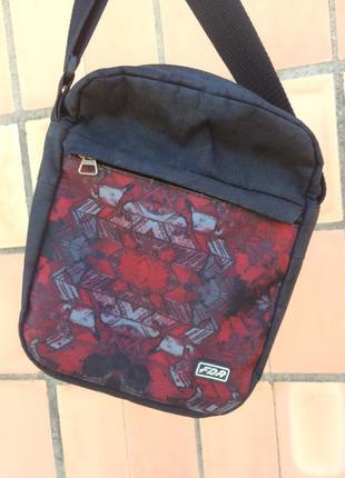Мессенджер fdr black/red  барсетка синяя бананка сумка