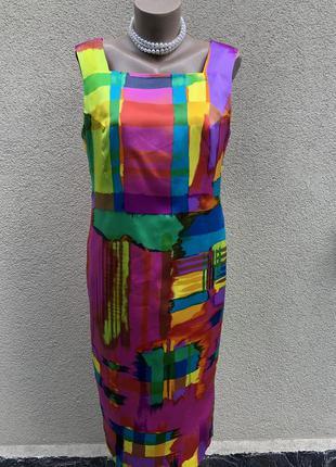 Винтаж,шелковое платье,сарафан по фигуре,