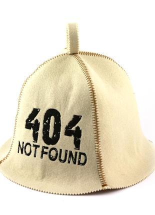 """Шапка для бани с вышивкой """"404 ошибка"""""""