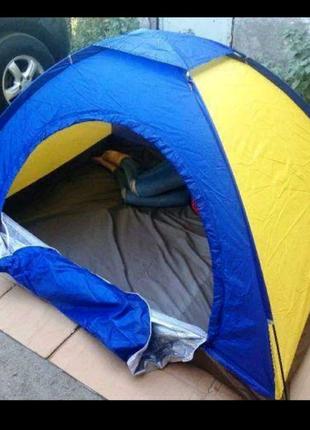 Двухместная туристическая палатка водонепроницаемая для кемпинга,