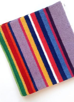 Полотенце банное махровое полосатое разноцветное 140*70