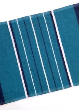 Полотенце лицевое махровое синий с бирюзовым 70*40
