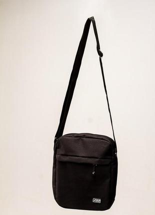 Мужской мессенджер fdr black барсетка черная бананка сумка