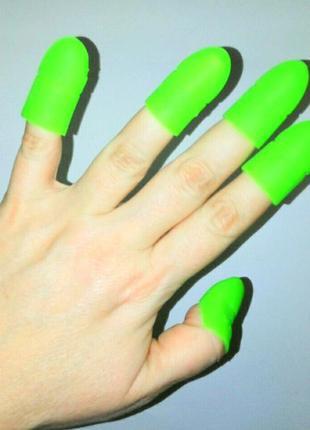 Акция ♥ колпачки силиконовые для снятия гель лака с ногтей рук