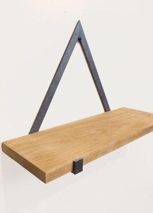 Настінна полиця в стилі лофт на замовлення, полочка loft,