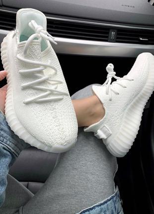 Adidas Yeezy 350 V2 Full White (Белый)| Кроссовки|Кеды|Обувь