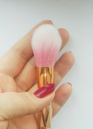 Кисть для макияжа пудра, румяна в стиле unicorn brushes pro