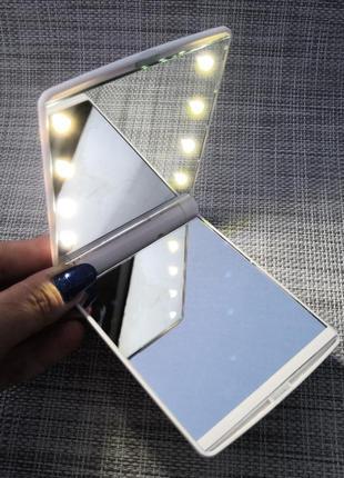 Зеркало косметическое светодиодное с led подсветкой для макияжа