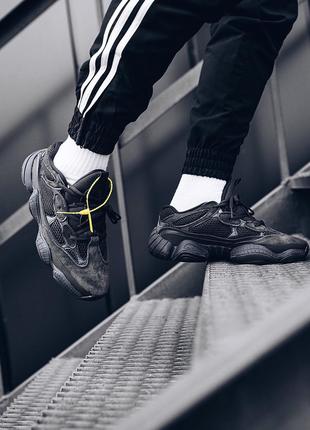 Adidas Yeezy 500 Utility Black (Черный) Кроссовки Кеды Обувь