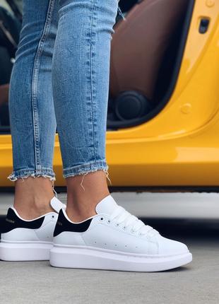 Alexander McQueen White Black (Белый Черный)|Кроссовки|Кеды|Обувь