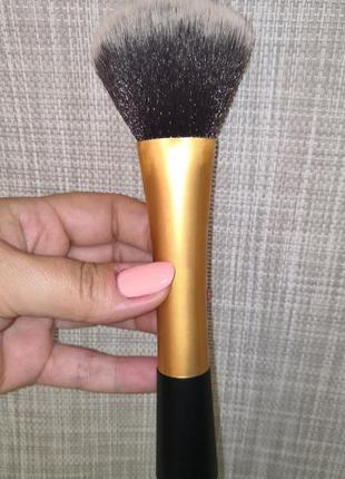Кисть для макияжа пудры румян таклон, большая видео обзор