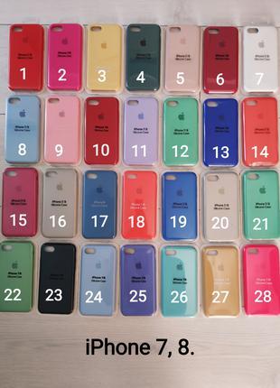 Чехол Silicone Case для Apple IPhone 6, 6S, 7, 8, X, XS