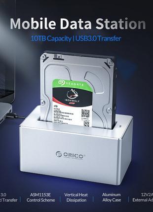 """ORICO 6618US3 UASP Док станция USB 3.0 для SATA HDD 2.5"""" 3.5"""""""