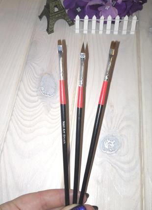 Кисти для дизайна маникюра набор кистей для ногтей 3 шт. nail ...