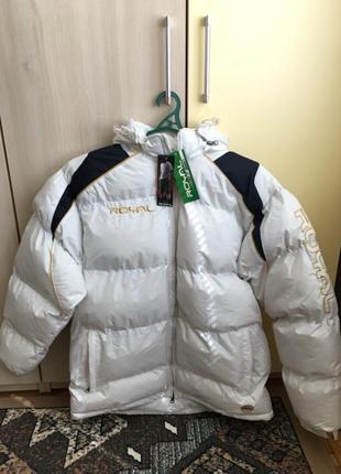 Куртка пуховик дутая зимняя тёплая новая мужская белая синтапон L